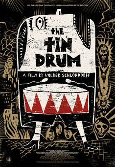 "David Plunkery designed The Tin Drum Poster for Criterion Design. Ltd Ed + huge at 27"" x 40"" #thetindrum #film #movie #poster #movieposter #design #print"