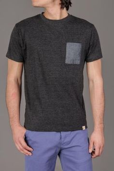 BellField Levi Mens T-Shirt WIth Chambray Trim