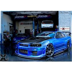 Nissan Skyline R34 GTR - very sleek