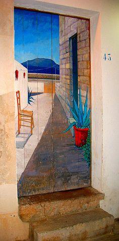 Door - Favignana Island, Sicily, Italy, Trapani