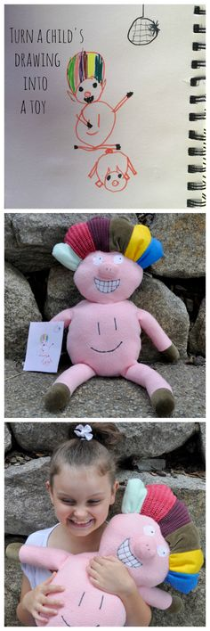 Turn a child's drawing into a stuffed toy. Gorgeous!
