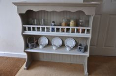 Hand Painted Welsh Dresser Top Shelves Annie Sloan Shabby Chic Country Farmhouse