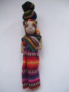 Guatemala worry doll magnet by rubystarrsgroovyart on Etsy