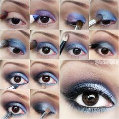 Passo a passo maquiagem lilás azulada - tudo make
