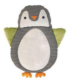 Lolli Living Black Penguin Play Mat