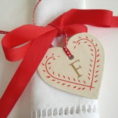 Swedish style Initialled Heart