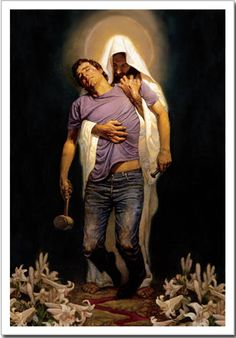 """""""Forgiven"""" by Thomas Blackshear.. Jesus carried me when I thought I couldn't make it"""