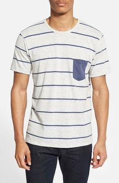 Alternative Nep Stripe Pocket T-Shirt available at #Nordstrom