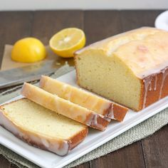 Meyer Lemon Pound Cake by Tracey's Culinary Adventures. ☀CQ #southern #sweets #treats