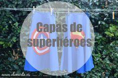 capa de superheroe Incluye tutotial, enlace a patrón y a logos; via elenarte