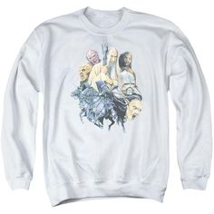 Submerge yourself in the world of Lord of the Rings with this Collage Of Evil Crewneck Sweatshirt. Now you can live out your fantasy and wear this officially licensed, white crewneck sweatshirt made of 50% cotton/50% polyester. Show the world your love of Lord of the Rings and buy this crewneck sweatshirt now.