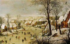 Escena nevada - Pieter Brueghel el Viejo