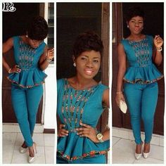 Rock the Latest Ankara Jumpsuit Styles these ankara jumpsuit styles and designs are the classiest in the fashion world today. try these Latest Ankara Jumpsuit Styles 2018 African Print Dresses, African Print Fashion, African Fashion Dresses, African Dress, Fashion Prints, Fashion Design, African Attire, African Wear, African Women