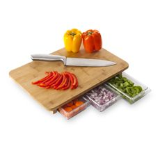 Quirky® Mocubo One Stop Chop Bamboo Cutting Board with Storage Containers - Bed Bath & Beyond