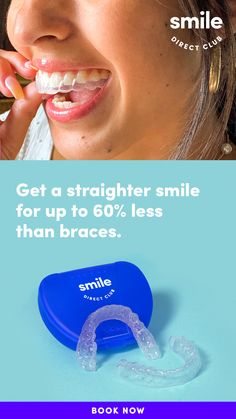 Get the confidence of a smile you'll love for Take the free smile quiz to see how you can get a straighter smile in 6 months on average and for less than braces** with clear aligners from SmileDirectClub. more ideas about fitness Manhattan Recipe, Bronzer, Concealer, Clear Aligners, Macaroon Recipes, Braces, Your Smile, Destiny, Told You So