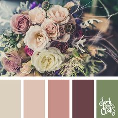 I feel like I say this all the time, but it's so true I'll say it again… Nature is the best place for color inspiration! Today we dive into flowers. Interior Design Color Schemes, Color Schemes Colour Palettes, Fall Color Palette, Colour Pallette, Color Combos, Boutique Deco, Color Balance, Color Swatches, Graphic
