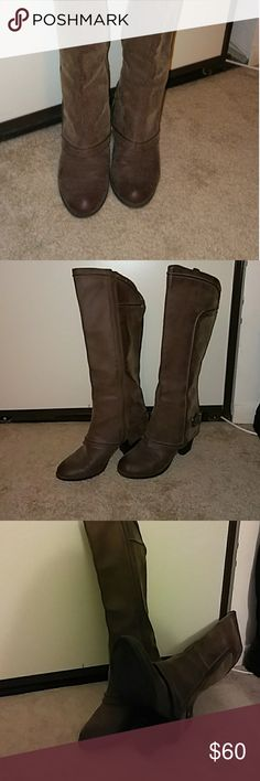 Fergie suede boots Brown suede Fergie Shoes Heeled Boots