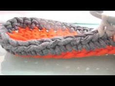 ▶ TUTORIAL COMO HACER PANERA A CROCHET CON TRAPILLO XXL - YouTube