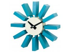 George Nelson Block Wall Clock by Kirch - in.