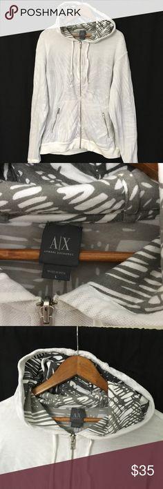 Armani Exchange reversible zip up hoodie Gently used Armani Exchange reversible zip up hoodie size large. Armani Exchange Jackets & Coats