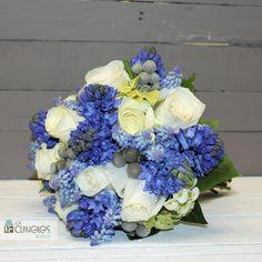 ramo de novia flores de boda de invierno Castellón. Ramo en tonos azules