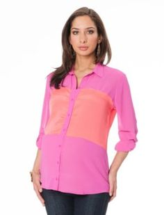 6e7adf2deef75 A Pea in the Pod: Long Sleeve Button Front Maternity Shirt A Pea in the
