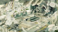 Futuristic room in hospital for diagnostic purpose by Ociacia on DeviantArt
