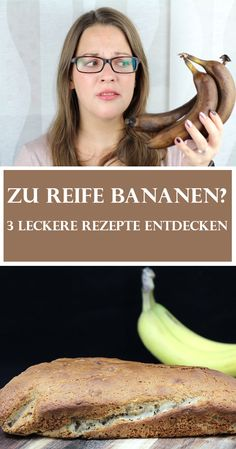 Ripe bananas do not have to end up in the garbage - because too ripe bananas can be . Copycat Recipes, My Recipes, Dog Food Recipes, Healthy Recipes, Cracker Barrel Meatloaf, Man 2, Food System, Banana Bread Recipes, Meatloaf Recipes