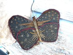 Vintage 1900/1920 French pin cushion butterfly by petitbrocante