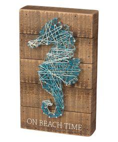 Look at this #zulilyfind! Seahorse String Wall Art #zulilyfinds