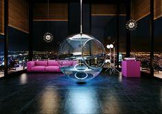 20 Diseños extremadamente creativos que tu casa necesita. Sillones que vuelan, vallas espejo, bañeras colgantes... la imaginación al poder!!! Habitissimo Ideas