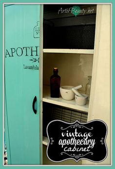 old metal cabinet turned vintage apothecary cabinet, painted furniture