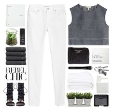 """""""CAN'T FEEL MY FACE"""" by f-4bulous ❤ liked on Polyvore featuring rag & bone, MANGO, Zimmermann, Acne Studios, NARS Cosmetics, Torre & Tagus, Alöe, Linum Home Textiles, Frette and BIA Cordon Bleu"""