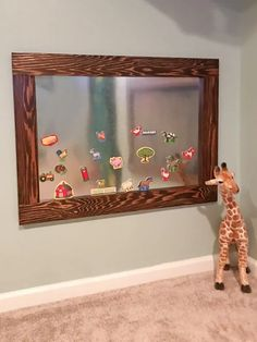 DIY Magnetic Board – Angela Marie Made How to build a wood framed DIY magnetic board. This easy DIY kids magnet board is a fun idea for your little ones and their playroom! Magnet Board Kids, Framed Magnetic Board, Magnetic Board For Kids, Easy Diys For Kids, Kids Magnets, Diy Furniture Plans, Kids Furniture, Kids Seating, Diy Wall Shelves