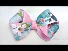 YouTube Ribbon Art, Diy Ribbon, Ribbon Crafts, Ribbon Bows, Handmade Hair Bows, Diy Hair Bows, Diy Bow, Kanzashi Tutorial, Hair Bow Tutorial