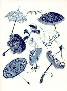 wishing parasols like these would be back in style - 1920s