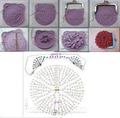 Cupcake Purse pattern by Laura Sutcliffe Crochet Wallet, Crochet Coin Purse, Crochet Pouch, Crochet Diy, Crochet Purses, Love Crochet, Crochet Flower Patterns, Crochet Flowers, Crochet Change Purse