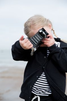 Gray Label AW15 Tied to the sea #Stripes #Nearly #Black #Tee #Hooded #Sweater #Girls #Kids #Autumn #Winter #Organic #Soft #Ecologic #GrayLabel