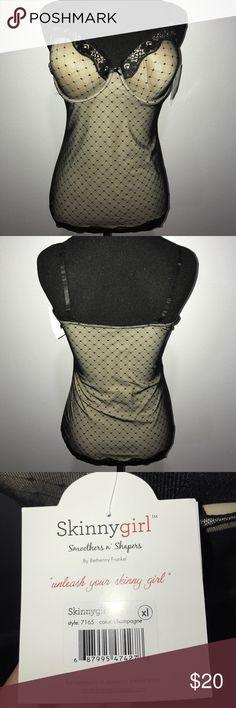 Skinnygirl Lux Camisole XL Skinnygirl Lux Camisole XL Champagne and Black Skinnygirl Intimates & Sleepwear Shapewear