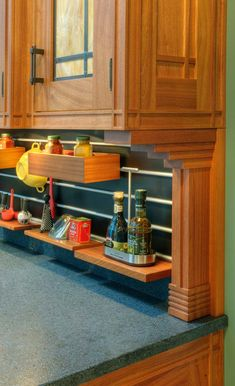 Crown Point's patented Channel Stock face frames, custom brackets, Linea shelving system and Highland Park door-all features of the Prairie Line from Crown Point.