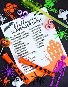 Halloween Scavenger Hunt, Fun Halloween Games, Scavenger Hunt Birthday, Halloween Inspo, Halloween Signs, Holidays Halloween, Halloween Themes, Halloween Party, Halloween Decorations