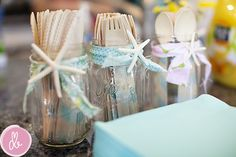 Mermaid Themed Baby Shower: Mermaid Party Setup Decor