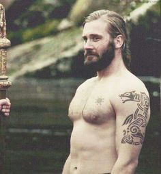Clive Standen as Rollo in Vikings ...am loving that ink