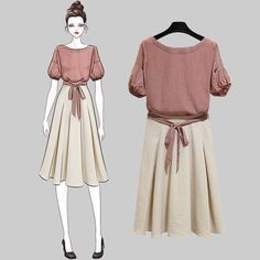 Korean clothing that look amazing. Korea Fashion, Asian Fashion, Look Fashion, Girl Fashion, Fashion Dresses, Womens Fashion, Pretty Outfits, Beautiful Outfits, Cute Outfits