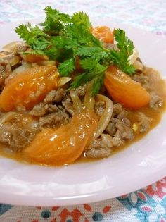 Beef and Tomatoes Stir-Fried in Wine