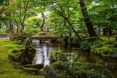 Stroll in the Wonderland or a regular day in Kenroku-en. Kenroku-en is one of the Three Great Gardens of Japan. Kanazawa, Wonderland, Gardens, Japan, River, Landscape, Park, Photos, Outdoor