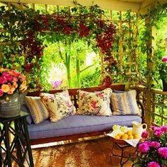 Cozy, romantic porch. Love! | home