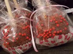 Mesa de dulces, manzanas cubiertas tamarindo