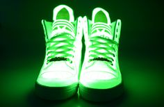 "More Adidas GLOW In The Dark Basketball Sneakers! Classic ""Big Tongue"" style shoes."