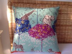 Giraffe cushion 20 sq by rosiestar on Etsy, $54.00